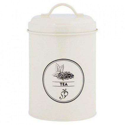 Esschert Design - plechová dóza na čaj, krémová