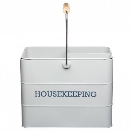 Kitchen Craft - plechový úklidový kbelík Living Nostalgia, šedý