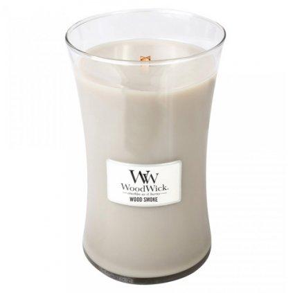 WoodWick - vonná svíčka Wood Smoke (Kouř a dřevo) 609g