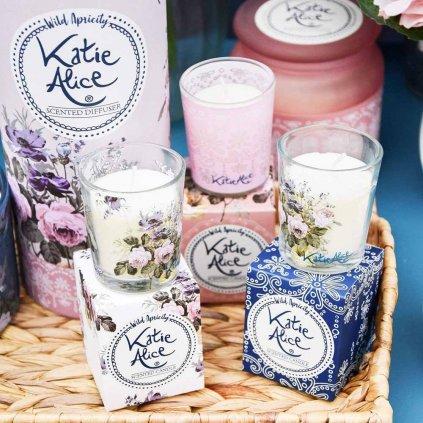 Katie Alice - votivní vonné svíčky Wild Apricity 3x50g