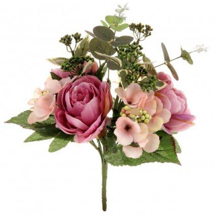 Umělá květina, puget v odstínech lila
