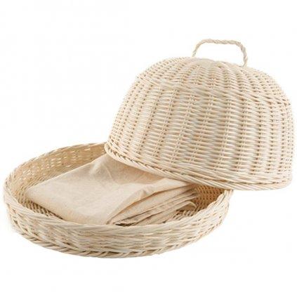Casa de Engel - ratanový chlebník + bavlněná utěrka zdarma