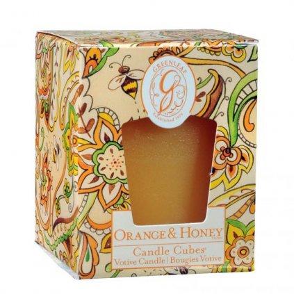 Greenleaf - votivní svíčka Orange & Honey 56g