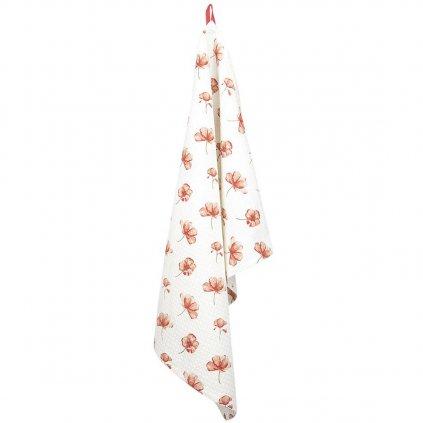 Bavlněná kuchyňská utěrka Poppy Flowers 50x70 cm