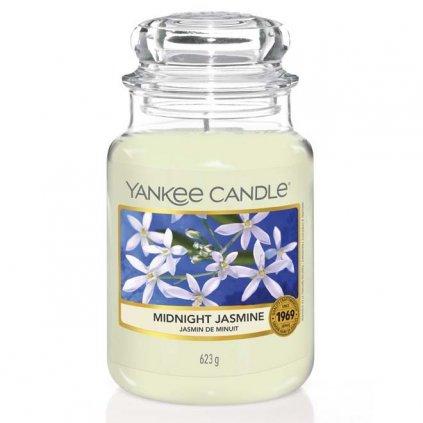 Yankee Candle - vonná svíčka Midnight Jasmine (Půlnoční jasmín) 623g