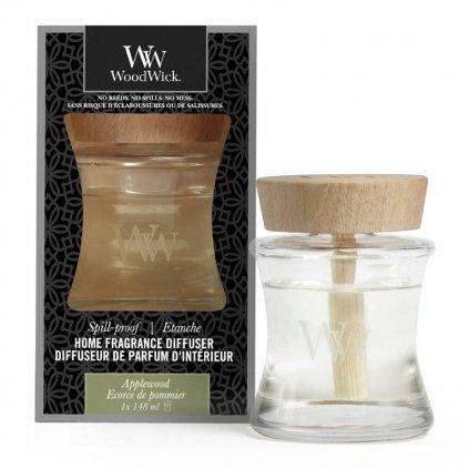WoodWick - aroma difuzér Applewood (Jabloňové dřevo) s víčkem proti vylití 148 ml