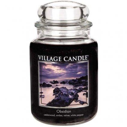 Village Candle - vonná svíčka Obsidian (Tajemný obsidián) 737g