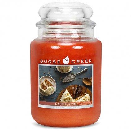 Goose Creek - vonná svíčka Carrot Cake (Mrkvový dort) 680g