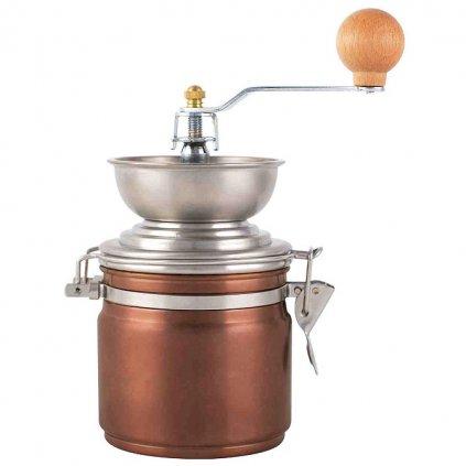 La Cafetiére - ruční nerezový mlýnek na zrnkovou kávu Origins, měděný