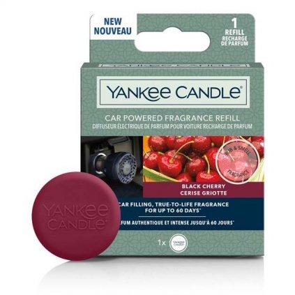 Yankee Candle - náhradní náplň do difuzéru do zapalovače auta, vůně Black Cherry