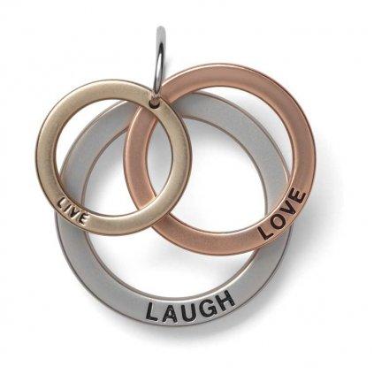 Yankee Candle - Charming Scents přívěsek Live, Laugh, Love