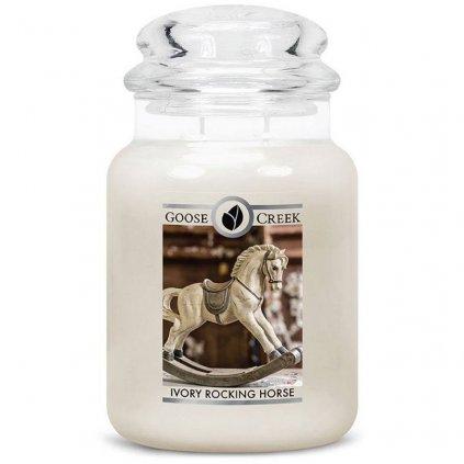 Goose Creek - vonná svíčka Ivory Rocking Horse (Houpací koník ze slonoviny) 680g