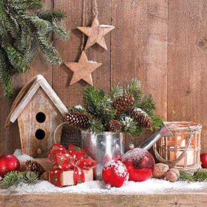 Ubrousky Vánoční dekorace 33x33 cm, 20 ks