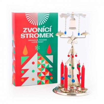 Zvonící stromek stříbrný, andělské zvonění české výroby