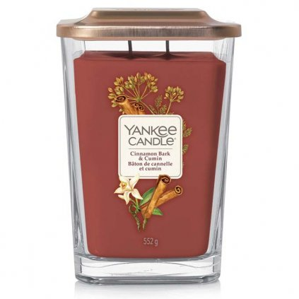 Yankee Candle Elevation - vonná svíčka Cinnamon Bark & Cumin (Skořicová kůra a kmín) 552g