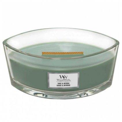 WoodWick - vonná svíčka Sage & Myrth (Šalvěj a myrha) 453g