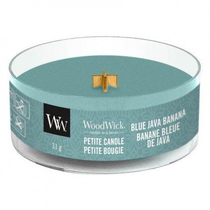 WoodWick - vonná svíčka Petite, Blue Java Banana (Havajský banán) 31g
