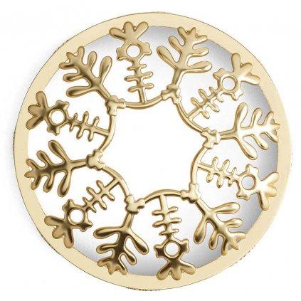 Yankee Candle - prstenec na svíčku Snowflake Frost