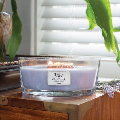 WoodWick - vonná svíčka Lilac (Šeřík) 453g