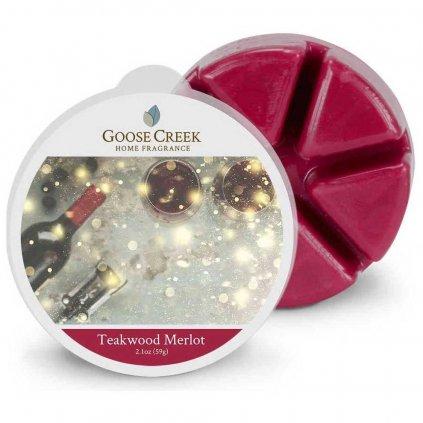 Goose Creek - vonný vosk Teakwood Merlot (Kvetoucí sklizeň) 59g