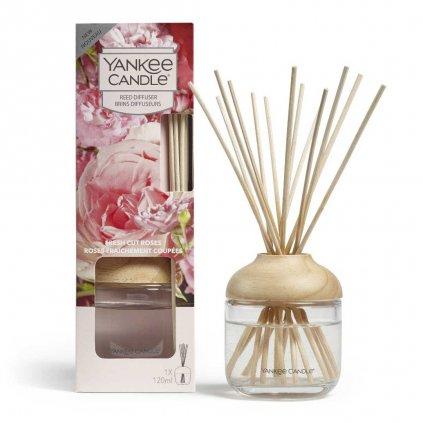 Yankee Candle - aroma difuzér Fresh Cut Roses (Čerstvě nařezané růže) 120 ml