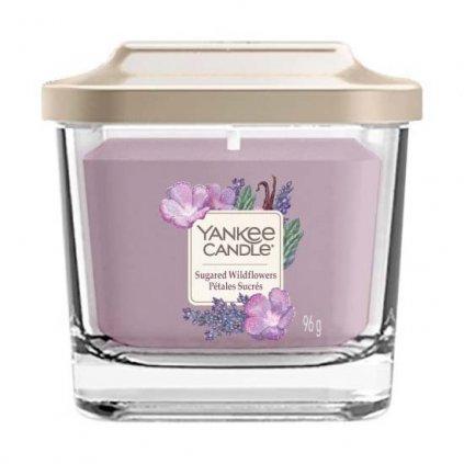 Yankee Candle Elevation - vonná svíčka Sugared Wildflowers (Cukrové divoké květy) 96g