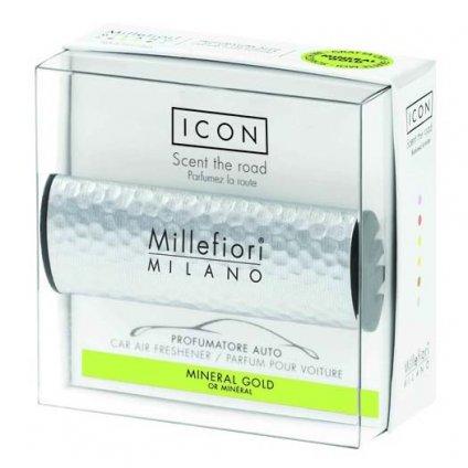 Millefiori Milano - ICON vůně do auta Mineral Gold 47g