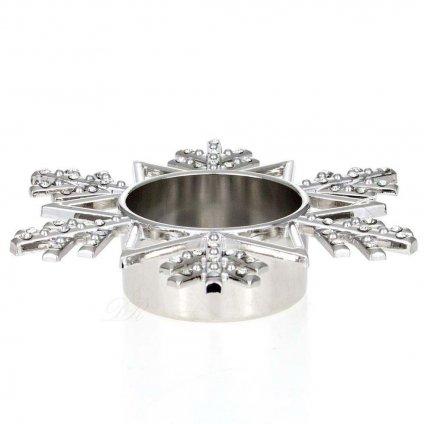 Yankee Candle - svícen Twinkling Snowflake na čajovou svíčku