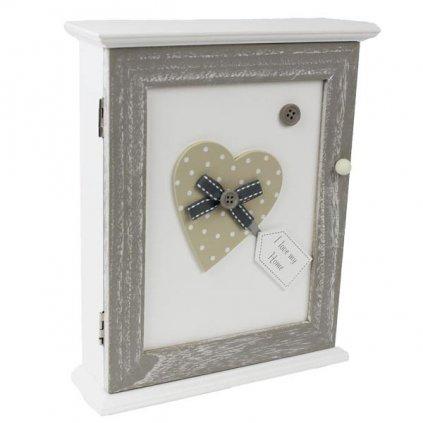Dřevěná krabička na klíče, 20x25 cm