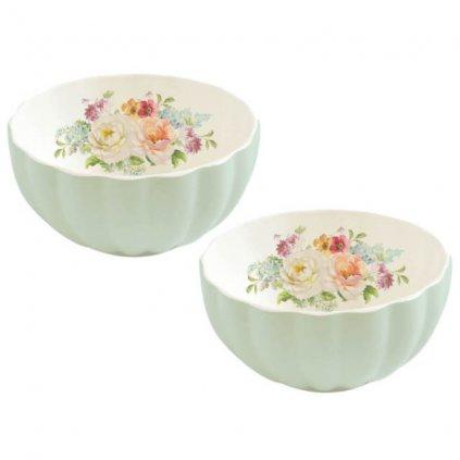 Easy Life - porcelánová miska Royal Green, dárková sada 2 ks