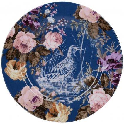 Katie Alice - dezertní porcelánový talíř Wild Apricity, modrý 20 cm