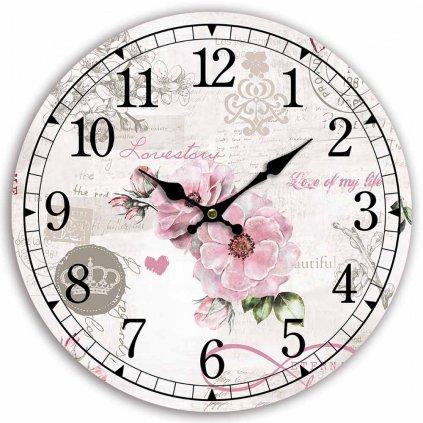 Nástěnné hodiny Love of my Life, 34 cm