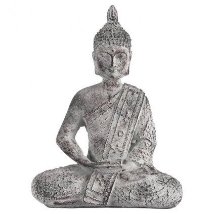 Soška Buddha, betonová dekorace 27 cm