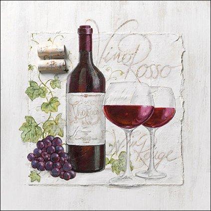 Ubrousky Víno Rosso 33x33 cm, 20 ks