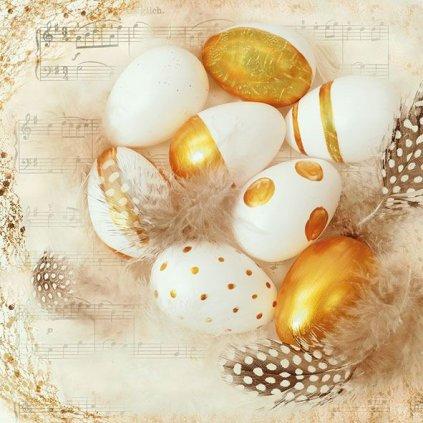 Ubrousky Zlatá vejce 33x33 cm, 20 ks