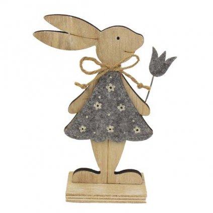 Velikonoční zajíček - holčička, dřevěná dekorace 17 cm