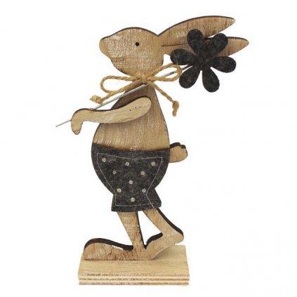 Velikonoční zajíček - chlapeček, dřevěná dekorace 18 cm