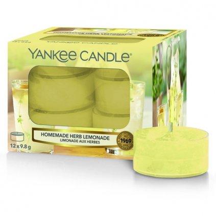 Yankee Candle - čajové svíčky Homemade Herb Lemonade (Domácí limonáda) 12ks