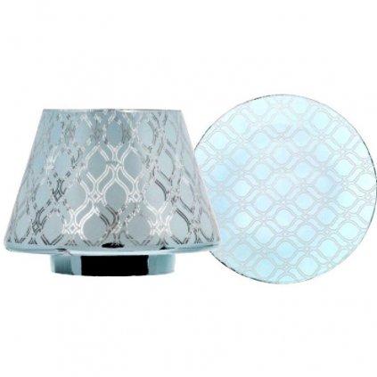 Yankee Candle - sada stínítka a talířku Savoy Blue, na velkou a střední svíčku