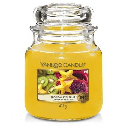 Yankee Candle - vonná svíčka Tropical Starfruit (Tropická karambola) 411g
