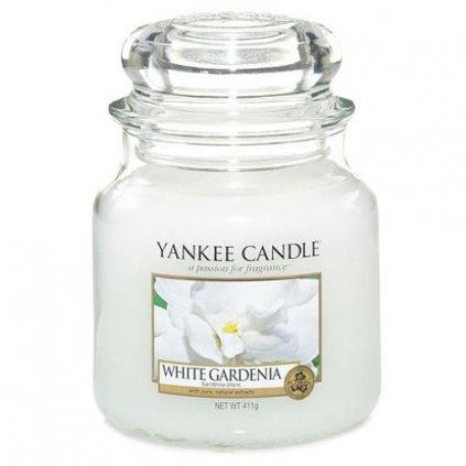 Yankee Candle - vonná svíčka White Gardenia (Bílá gardénie) 411g