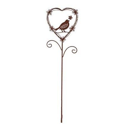 Zahradní zápich s ptáčkem, délka 99 cm