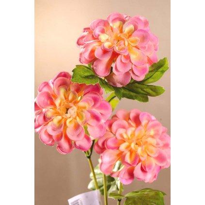 Dahlia vínová, umělá květina 56 cm