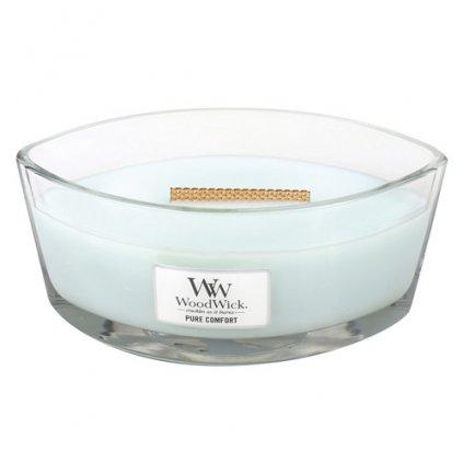 WoodWick - vonná svíčka Čisté pohodlí 453g