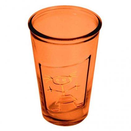 ZML 1004C003 sklenice recyklovana oranzova