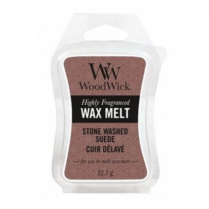 woodwick stone washed suede vosk