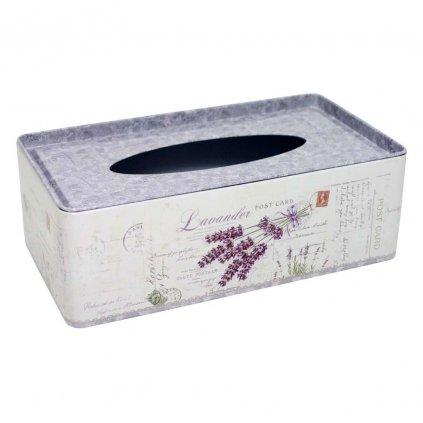 box na kapesniky levandule