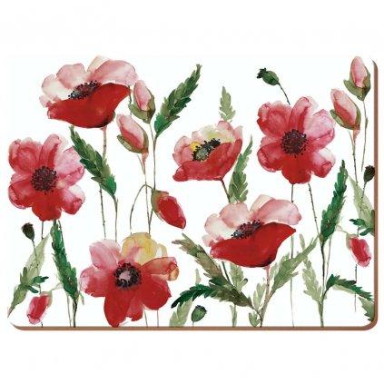 creative tops watercolour poppy prostirani stredni 6ks 1