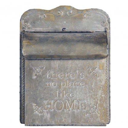 Retro kovová poštovní schránka Home s patinou
