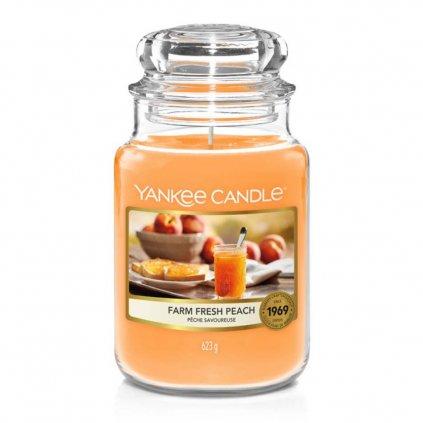 yankee candle farm fresh peach svicka velka 1